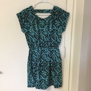 Summer Dress with Aztec style print, Size Small
